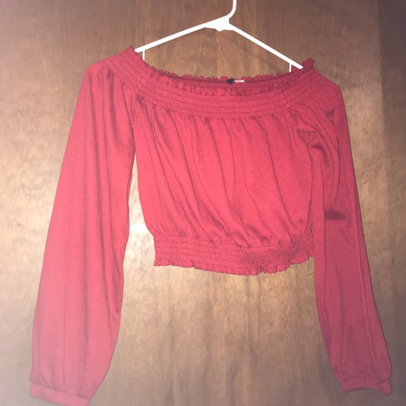 H&M Tops - red off shoulder